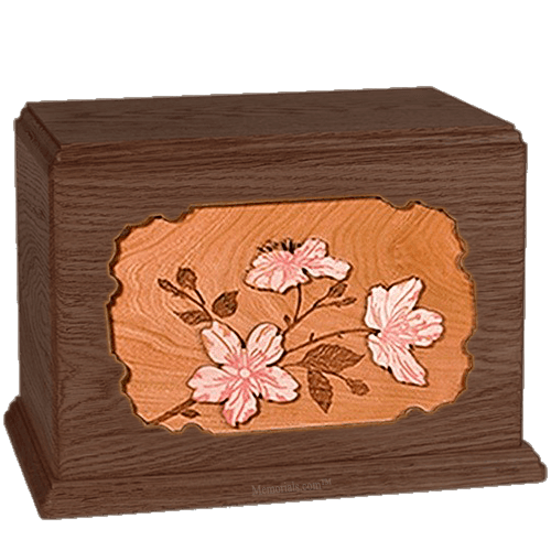 Cherry Blossom Walnut Companion Urn