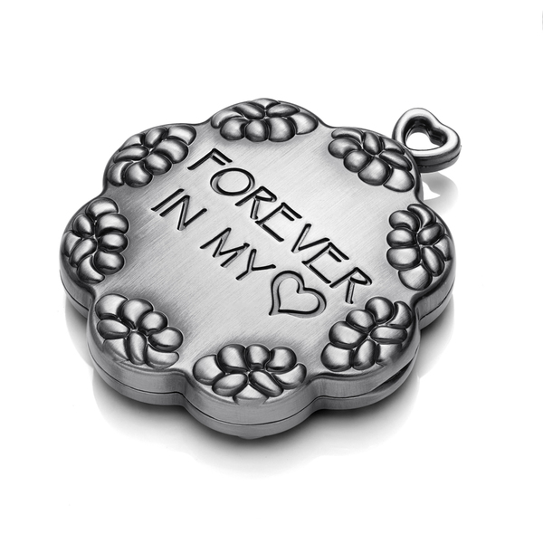 Forever Heart Silver Cremation Note Keepsake