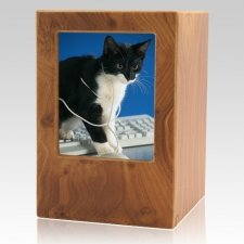Natural Pet Large Photo Wood Urn