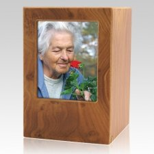 Natural Eternity Large Photo Wood Urn