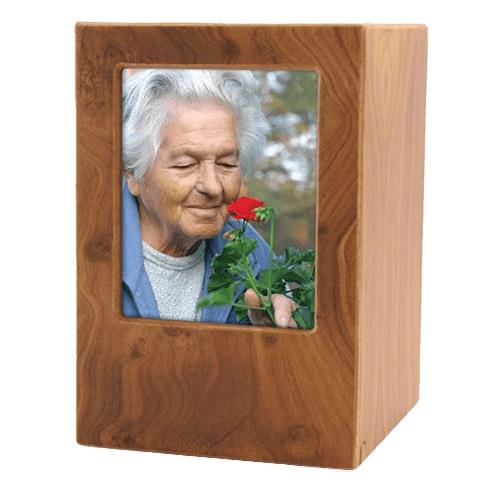 Natural Eternity Large Photo Wood Urn