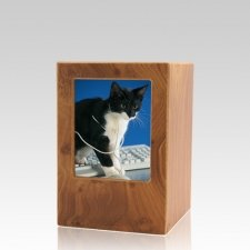 Natural Pet Small Photo Wood Urn