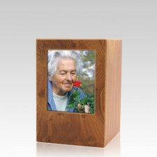 Natural Eternity Small Photo Wood Urn