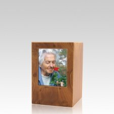 Natural Eternity Keepsake Photo Wood Urn