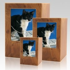 Natural Pet Photo Wood Urns