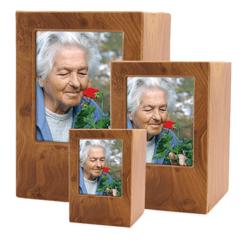 Natural Eternity Photo Wood Urns