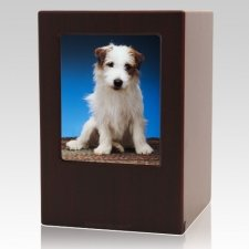 Cherry Pet Large Photo Wood Urn
