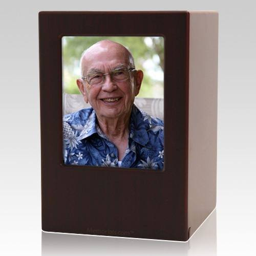 Cherry Eternity Large Photo Wood Urn