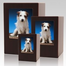 Cherry Pet Photo Wood Urns