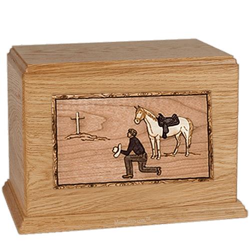 Cowboy Oak Companion Urn