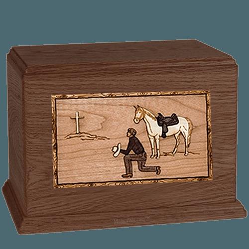 Cowboy Walnut Companion Urn