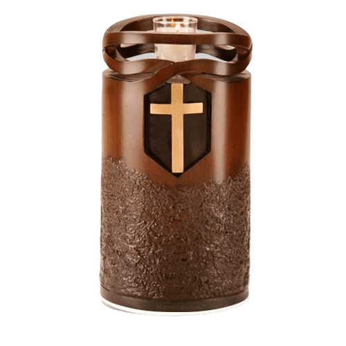 Infinity Wood Cross Cremation Urn