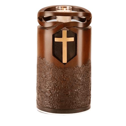 Infinity Wood Cross Cremation Urn