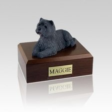 Cairn Terrier Black Medium Dog Urn