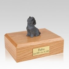 Cairn Terrier Black Sitting Large Dog Urn