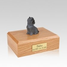Cairn Terrier Black Sitting Medium Dog Urn