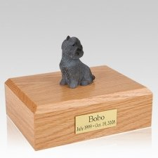 Cairn Terrier Black Sitting Dog Urns