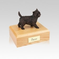 Cairn Terrier Bronze Small Dog Urn