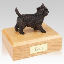 Cairn Terrier Bronze X Large Dog Urn
