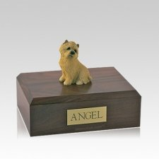 Cairn Terrier Tan Sitting Medium Dog Urn
