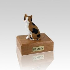 Calico Cat Small Cremation Urn