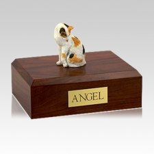 Calico Grooming Large Cat Cremation Urn