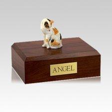 Calico Grooming Medium Cat Cremation Urn