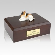 Calico Laying Large Cat Cremation Urn