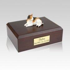 Calico Laying Medium Cat Cremation Urn
