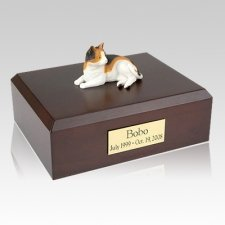 Calico Laying Cat Cremation Urns