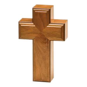 Calvary Wood Cremation Urn