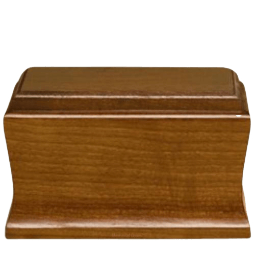 Cambridge Mahogany Wood Urn