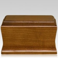 Cambridge Mahogany Wood Cremation Urns