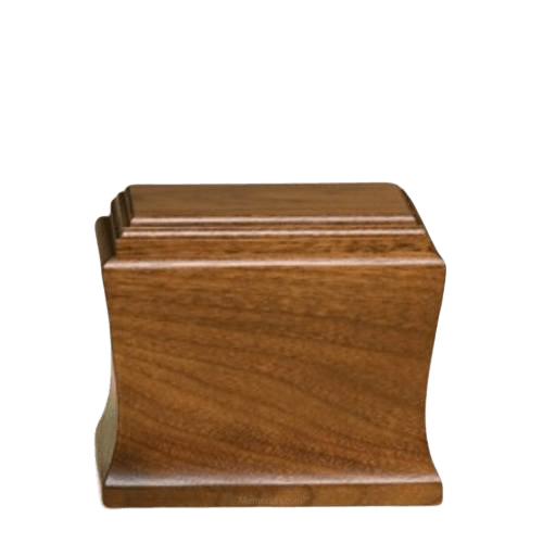 Cambridge Small Mahogany Wood Urn