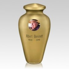 Cameo Metal Cremation Urn