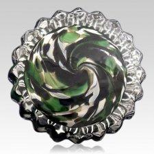 Camo Glass Keepsake Urn