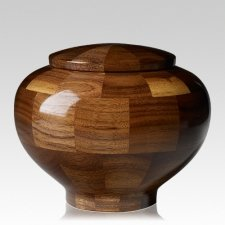 Canton Medium Wood Urn