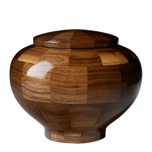 Canton Medium Wood Urn