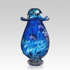 Capricorn Glass Cremation Urn