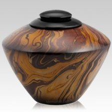 Caramel Marble Cremation Urn