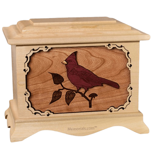 Cardinal Maple Cremation Urn
