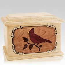Cardinal Maple Memory Chest Cremation Urn