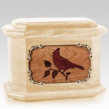 Cardinal Maple Octagon Cremation Urn
