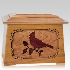 Cardinal Oak Aristocrat Cremation Urn