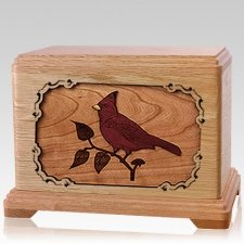 Cardinal Oak Hampton Cremation Urn
