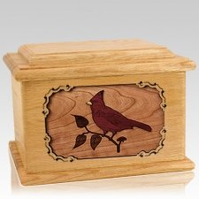 Cardinal Oak Memory Chest Cremation Urn