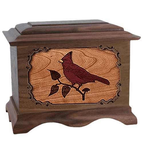 Cardinal Walnut Cremation Urn