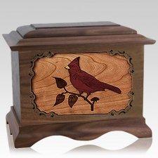Cardinal Wood Cremation Urns