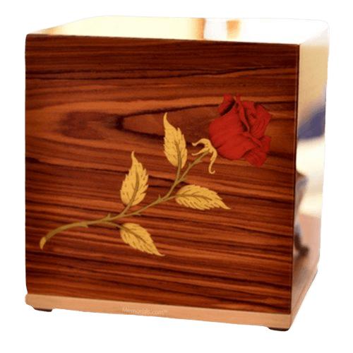 Carmine Wood Cremation Urn
