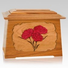 Carnation Mahogany Aristocrat Cremation Urn